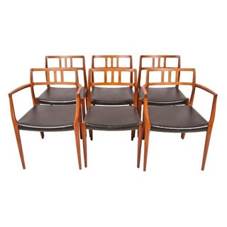 Niels Moller Danish Teak Dining Chairs - Set of 6