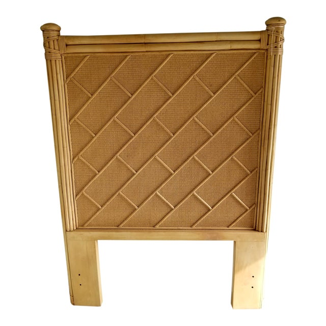 Rattan Bamboo Chippendale Twin Headboard - Image 1 of 3
