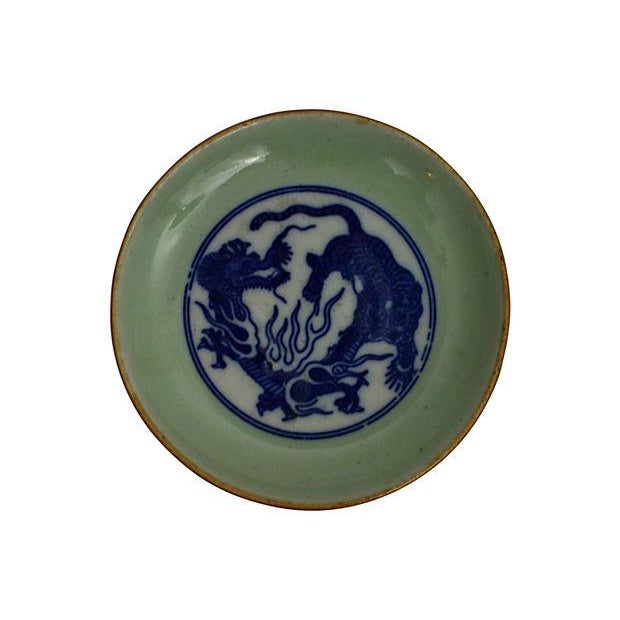 Early 19th-C. Celadon Dishes, S/3 - Image 4 of 5