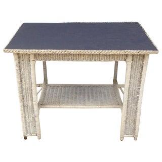 Antique Wicker Desk, Table With Chalkboard Top
