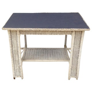 Antique Wicker Desk, Table With Chalkboard Top