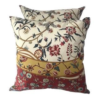 Brunschwig Fils Floral Pillow Covers - A Pair