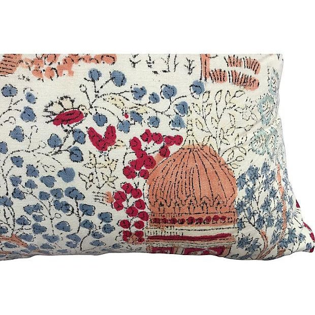 Bohemian 1970's Hand-Blocked Pillows - A Pair - Image 3 of 5