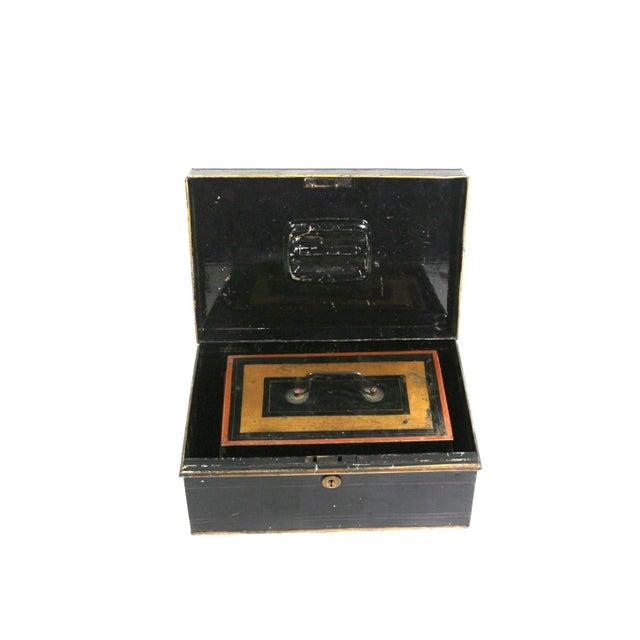 1920s English Metal Cash Boxes - Set of 3 - Image 3 of 6