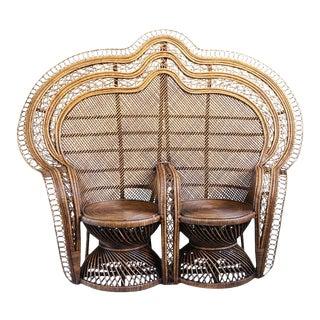 Double Plantation Peacock Chair