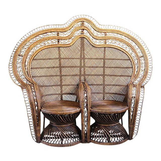 Double Plantation Peacock Chair - Image 1 of 5