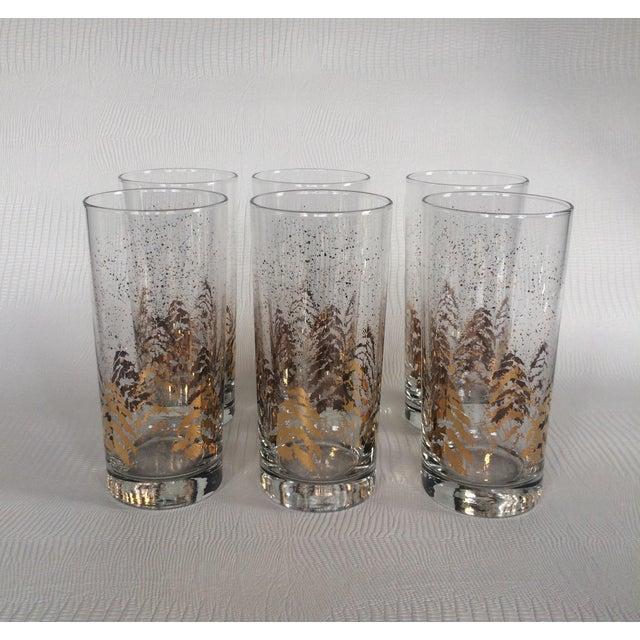 Vintage Dansk Gold Holiday Glasses - Set of 6 - Image 5 of 6