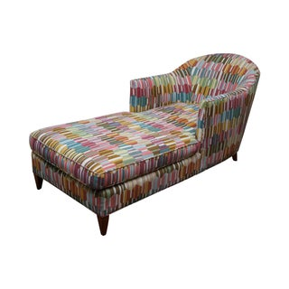 Newly Upholstered Multicolor Chaise Lounge