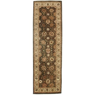 RugsinDallas Antique Look Green Natural Dyes Peshawar Runner - 3′2″ × 10′2″