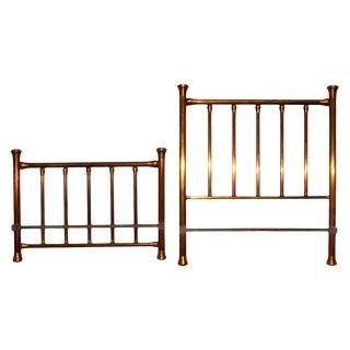 Brass Headboard & Footboard - A Pair