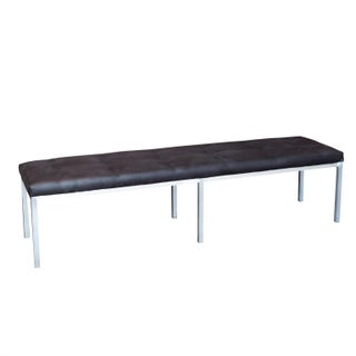 Brushed Aluminum Bench by J.G. Furniture