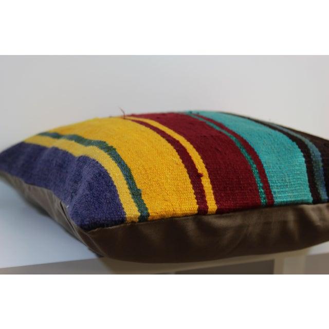 20'' Large Vintage Turkish Kilim Pillow Cover - Image 5 of 5