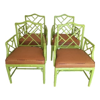 Jonathan Adler Chippendale Arm Chairs - Set of 4