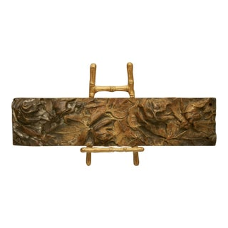 Bronze Abstract Panel on Faux Bamboo Easel