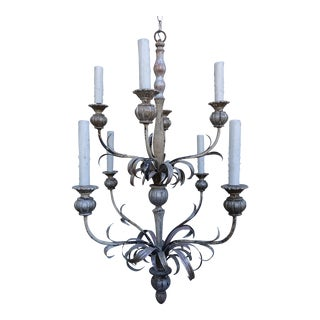 Silver Gilt Wooden Chandelier