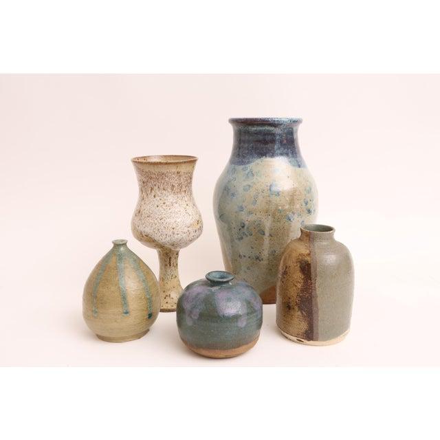 Mid-Century Modern Handmade Studio Pottery Vases - Set of 5 - Image 2 of 5
