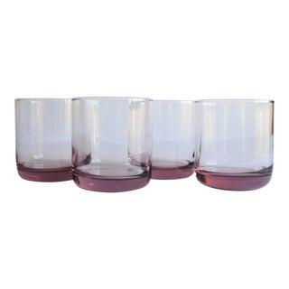 Vintage Blush Pink Rocks Glasses - Set of 4