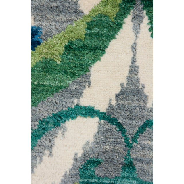 """New Suzani Hand Knotted Area Rug - 3'2"""" x 5'3"""" - Image 3 of 3"""