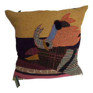 Handmade Patchwork Abstract Pillow
