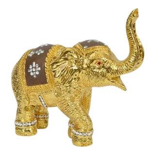 Gold Color Elephant Figurine