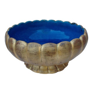Vintage Florentine Blue & Gold Bowl