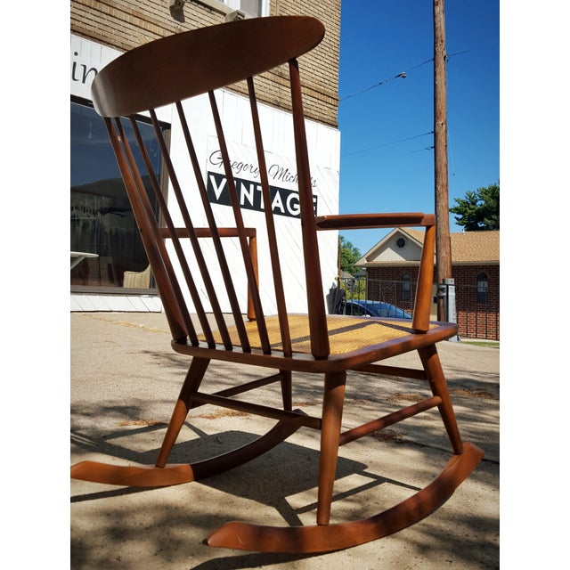 Mid-Century Modern Spindle Rocking Chair - Image 3 of 11