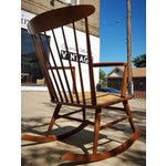 Image of Mid-Century Modern Spindle Rocking Chair