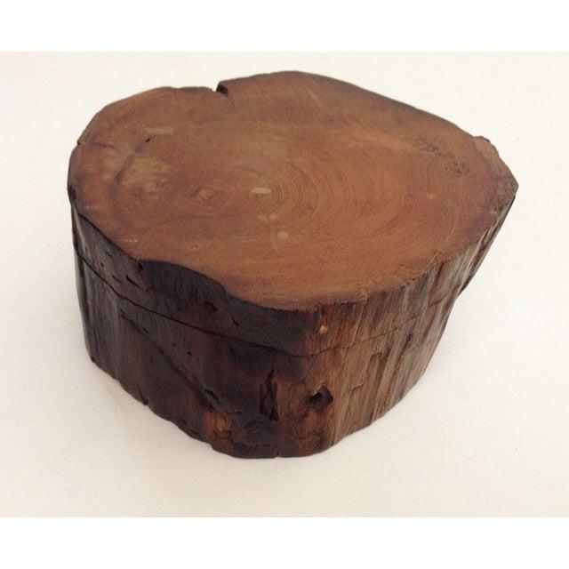 Image of Rustic Wood Natural Log Box