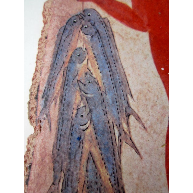 Fisherman Fresco Hand Made Greece - Image 4 of 10