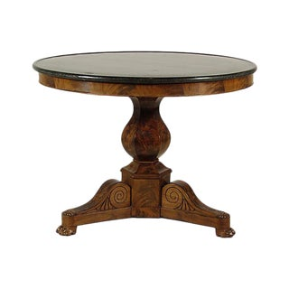 19th Century Louis Philippe Marble Center Table