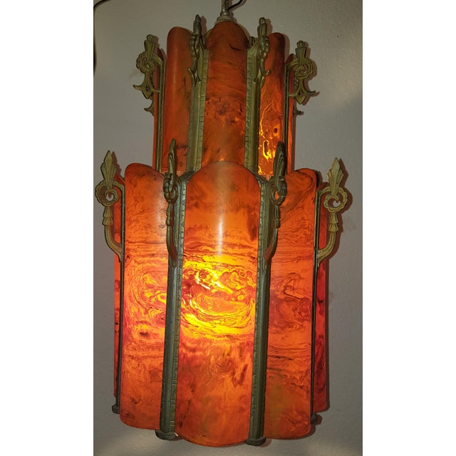 Image of Art Deco Jazz Age Bakelite Chandelier