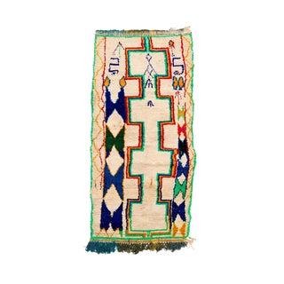 Vintage Azilal Handwoven Rug - 3′5″ × 7′6″