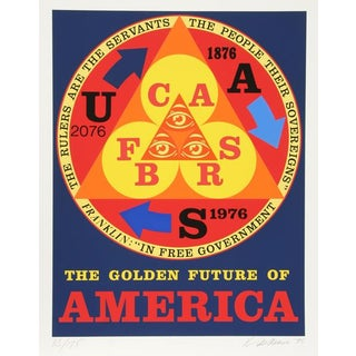 """The Golden Future of America"" by Robert Indiana"