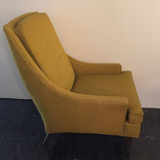 Midcentury Modern High Back Arm Chair - Image 5 of 8