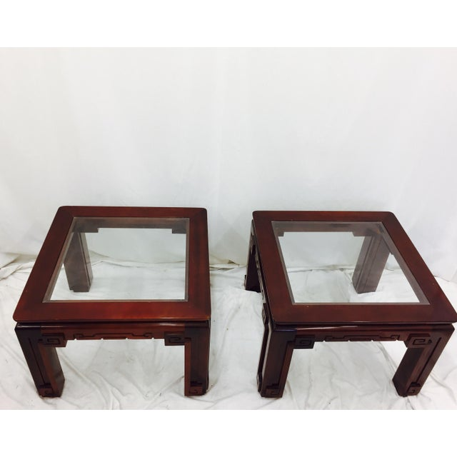 Vintage Asian Ming Style Side Tables - A Pair - Image 9 of 10