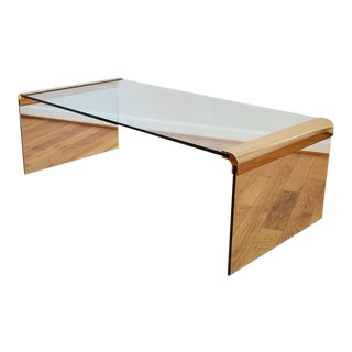 Mid-Century Pace Brass and Glass Coffee Table