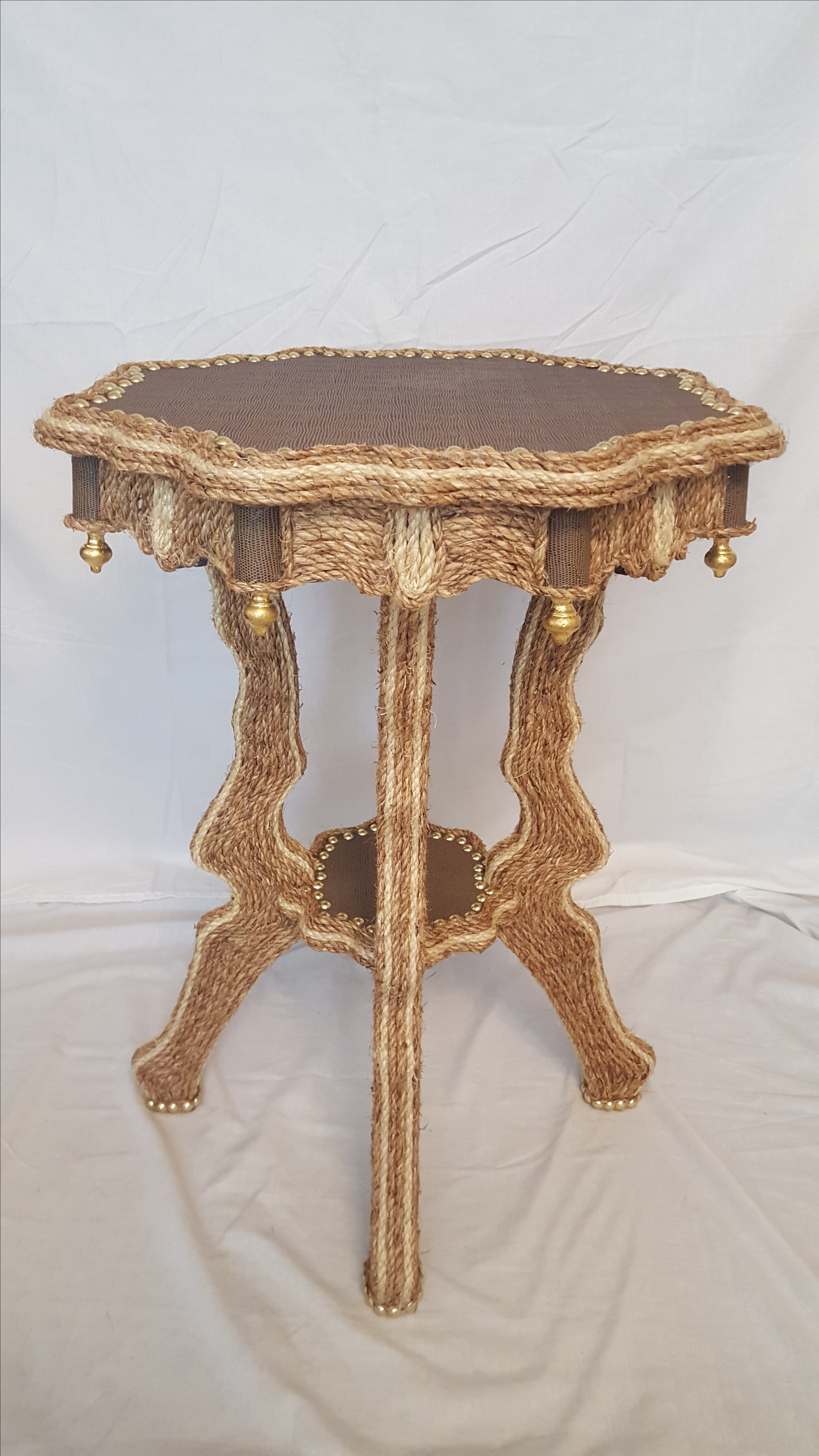 sisal rope moroccan style accent table chairish