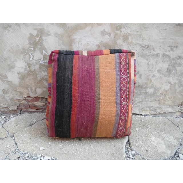 Vintage Floor Pillows : Vintage Striped Moroccan Floor Pillow Chairish
