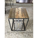 Image of Mid-Century Steel and Old Growth Wood Tables - 2
