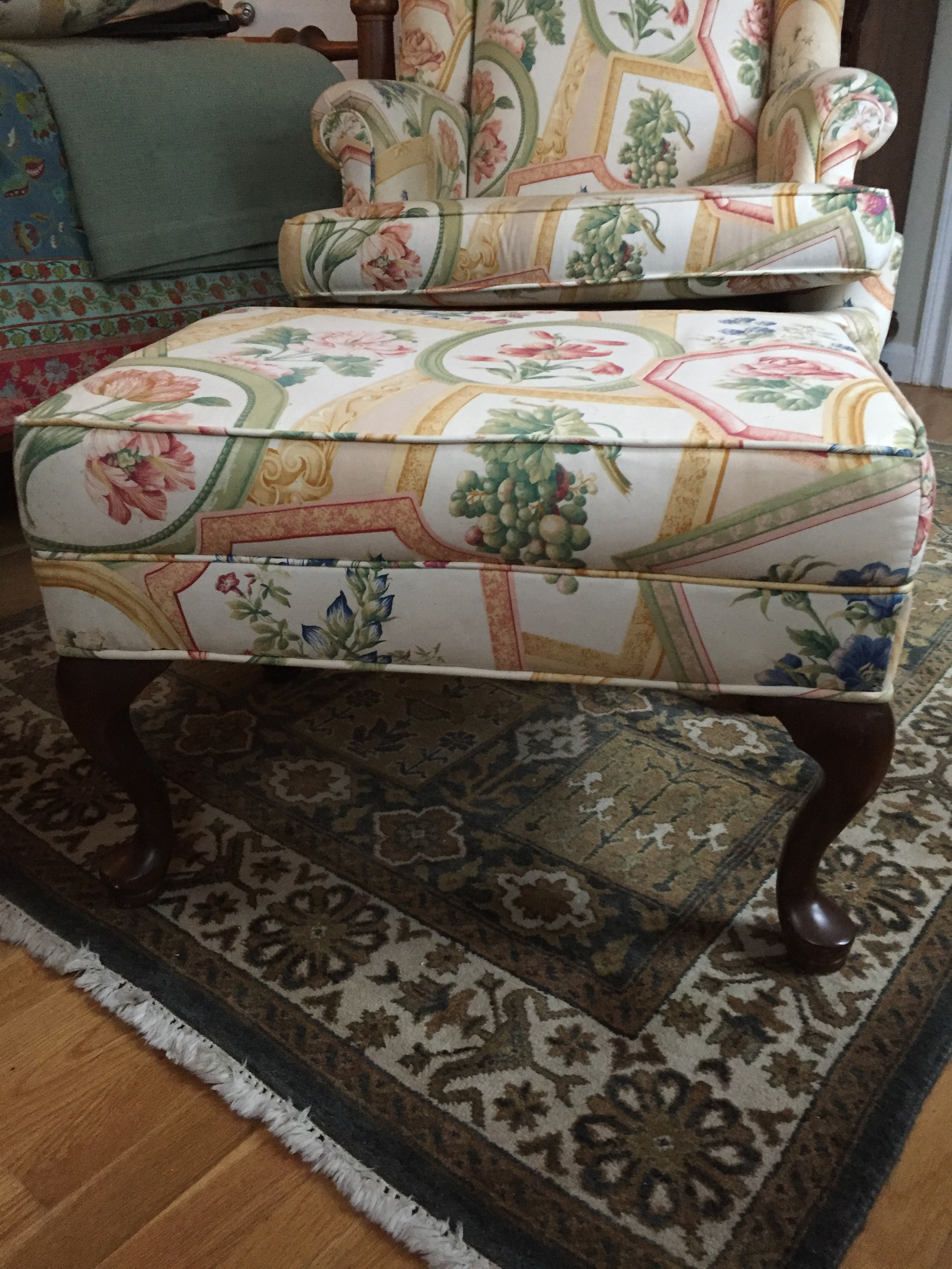 Ethan Allen Queen Anne Wing Chair & Ottoman  Chairish. Crushed Granite Patio. Bathroom Storage Ideas. Black Tub. Pink Bathroom Ideas. 42 Bathroom Vanity Cabinet. Eleganza Tile. Wine Barrel Light Fixtures. Shower Kit