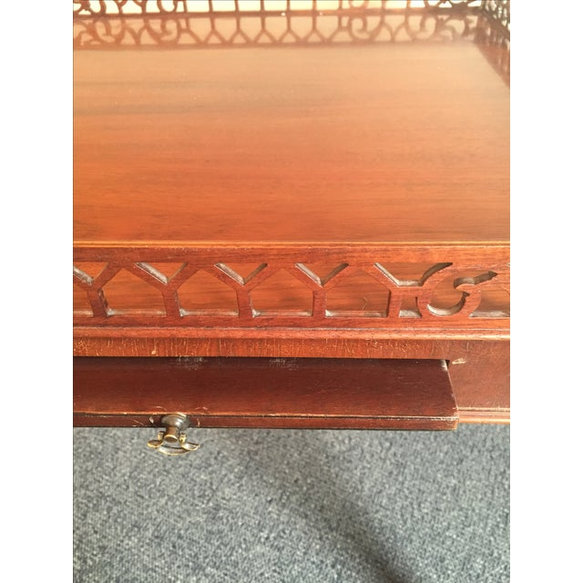 Chippendale-Style Wood Side Table - Image 7 of 7