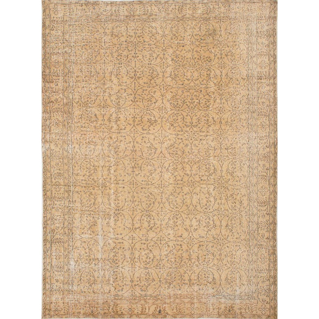 "Vintage Pastel Turkish Over-Dyed Rug - 7' X 9'8"" - Image 1 of 2"