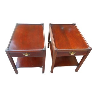 Hickory Chair Co. James River Two-Tier End Tables - A Pair
