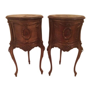 French Antique End Tables - A Pair