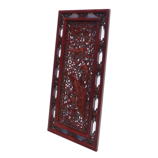 Chinese Decorative Wood Wall Panel - Image 3 of 6
