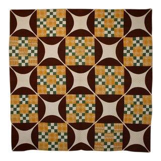 Double Nine Patch Quilt: Circa 1870