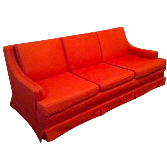Orange Mid Century Sofa: Mid-Century Modern Sofa In Burnt Orange