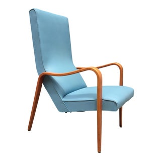 Vintage Thonet Blue Lounge Chair