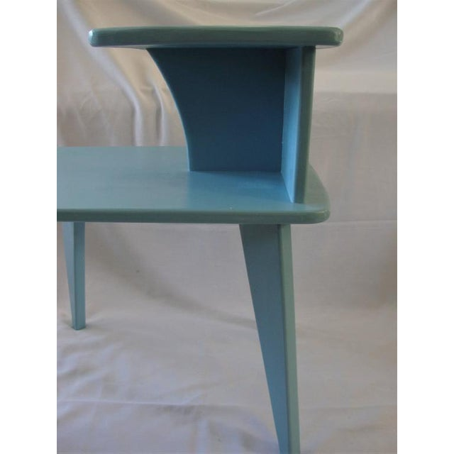Retro Duck Blue Side Tables - A Pair - Image 3 of 6