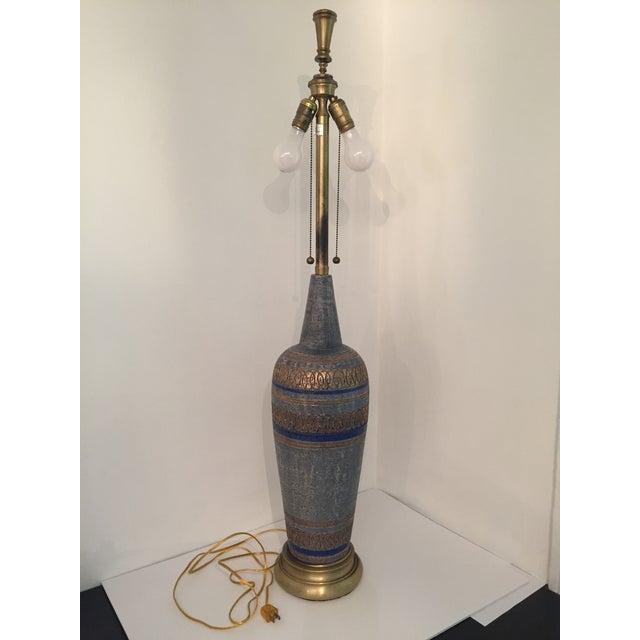 Image of Vintage Blue Mid-Century Lamp